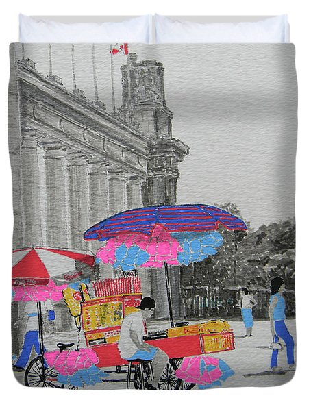 Cotton Candy At The Cne Duvet Cover