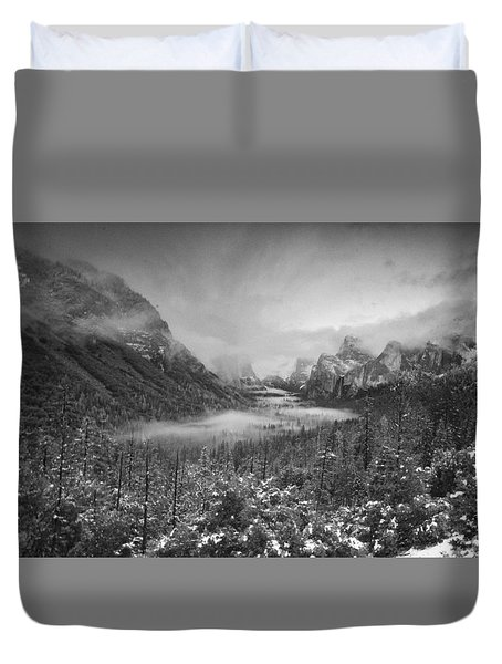 Duvet Cover featuring the photograph Cotton Candy Blankets Yosemite by Lora Lee Chapman