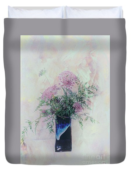 Duvet Cover featuring the photograph Cotton Candy Dreams by Linda Lees