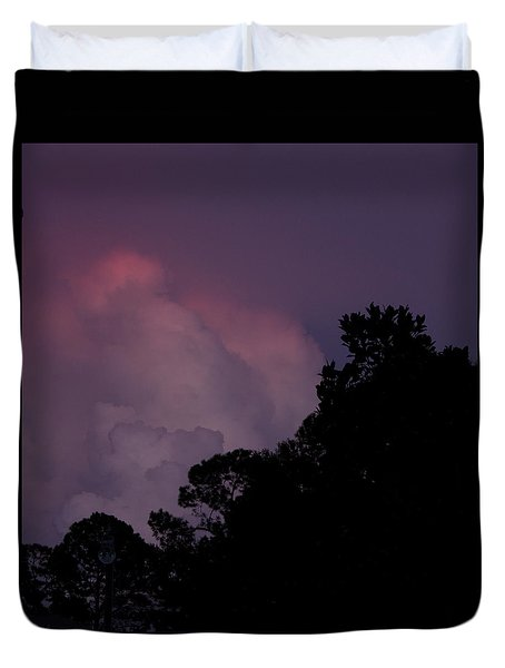 Cotton Candy Dusk Duvet Cover by Nancy Dinsmore