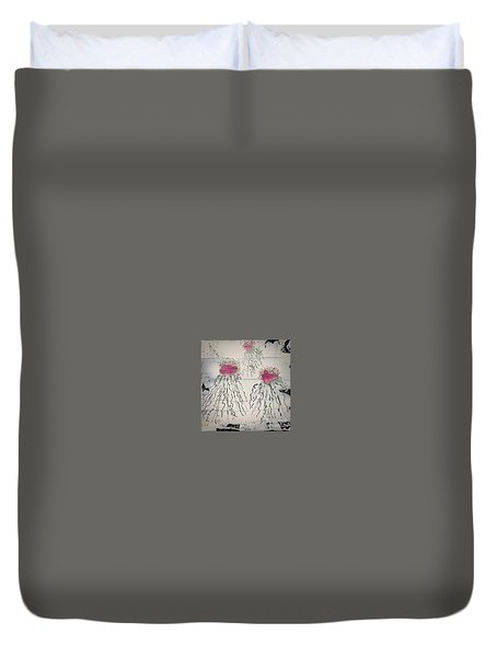 Cotton Candy Jelly-fish Duvet Cover