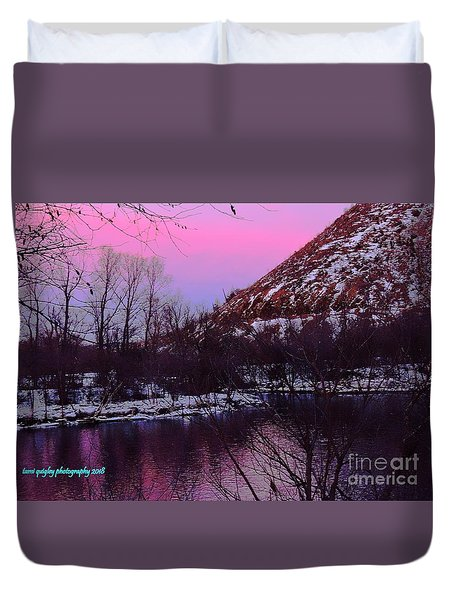 Cotton Candy On The Kittatinny Duvet Cover