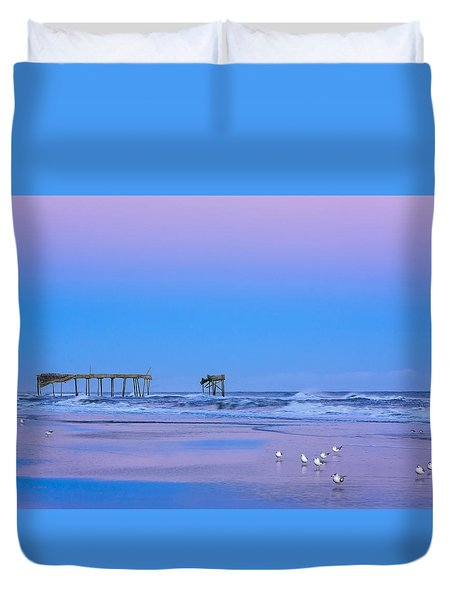 Cotton Candy Sunset Duvet Cover