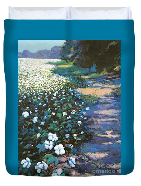 Cotton Field Duvet Cover by Jeanette Jarmon