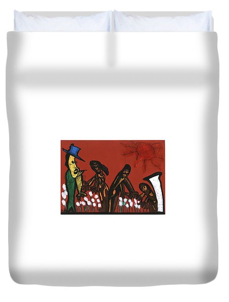 Cotton Pickers Duvet Cover by Darrell Black