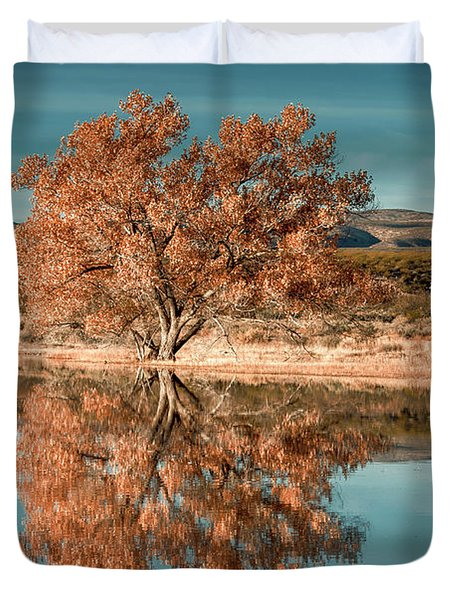 Cotton Wood Tree  Duvet Cover