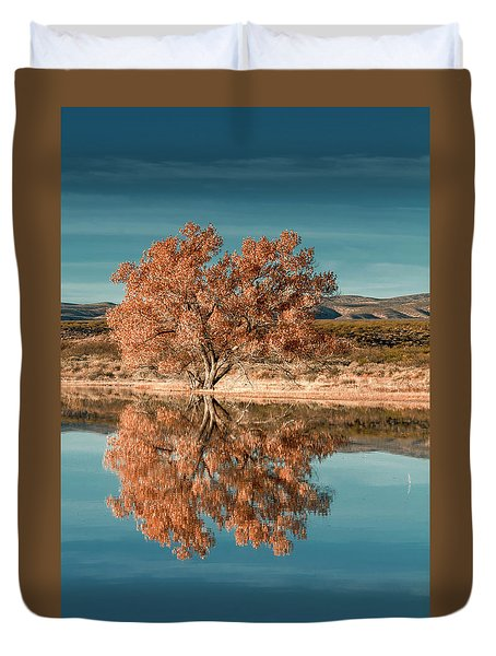 Cotton Wood Tree  Duvet Cover