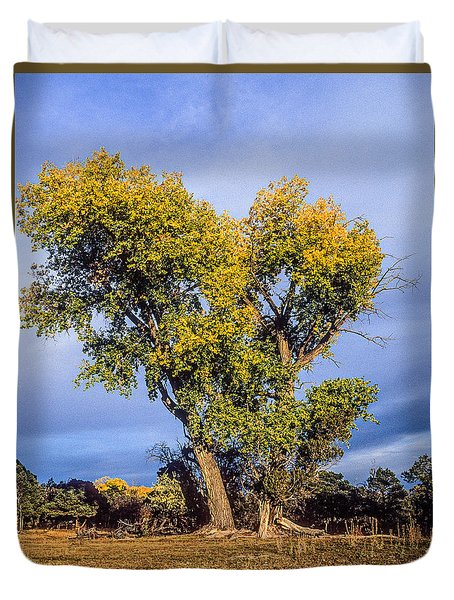 Cottonwood #4 Fall Ranch Colorado Duvet Cover