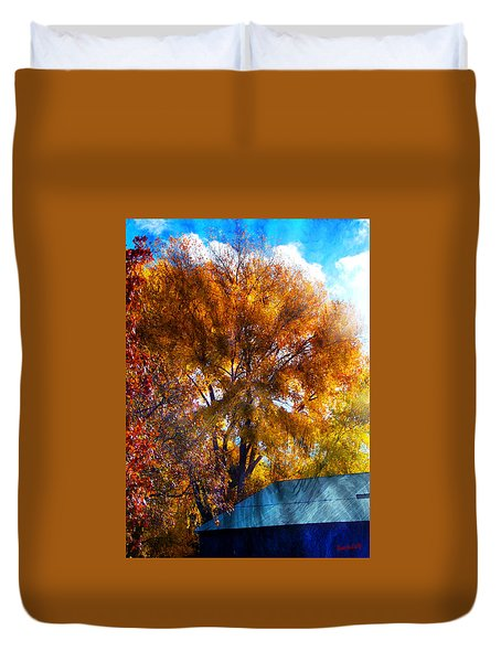 Cottonwood Conversations With Cobalt Sky  Duvet Cover by Anastasia Savage Ealy