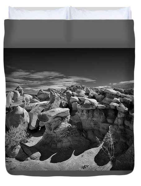 Cottonwood Creek Strange Rocks 2 Bw Duvet Cover