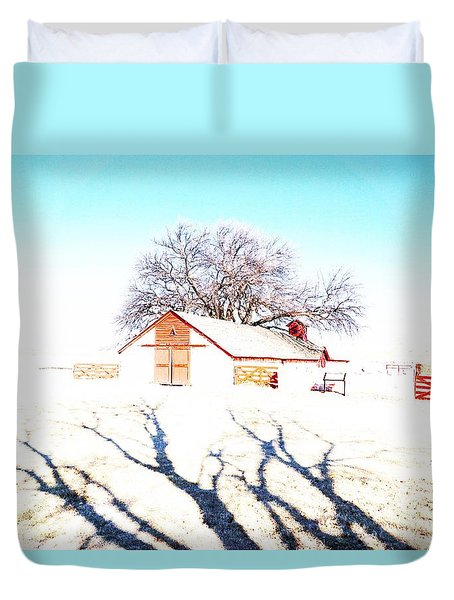 Cottonwood Ranch, Kansas Duvet Cover