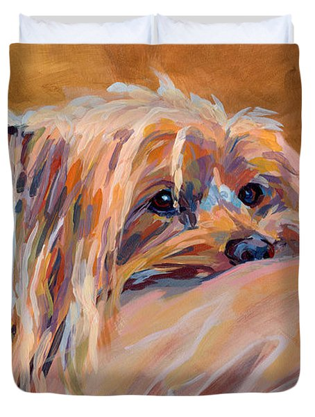 Couch Potato Duvet Cover by Kimberly Santini