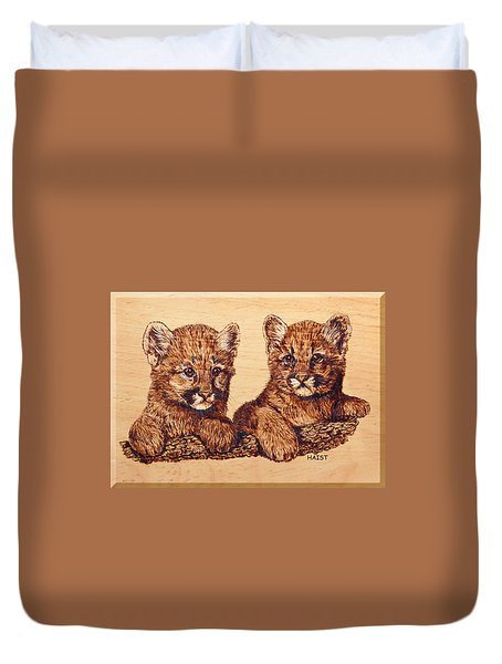 Cougar Cubs Duvet Cover