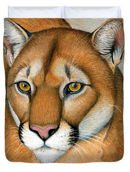 Cougar Portrait Duvet Cover