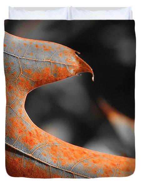Cougar Rusty Leaf Detail Duvet Cover