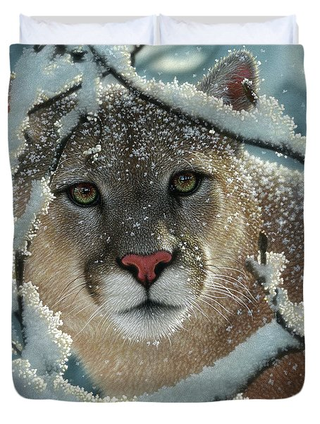Cougar - Silelnt Encounter Duvet Cover