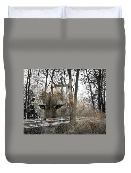 Cougar The Cunning One Duvet Cover