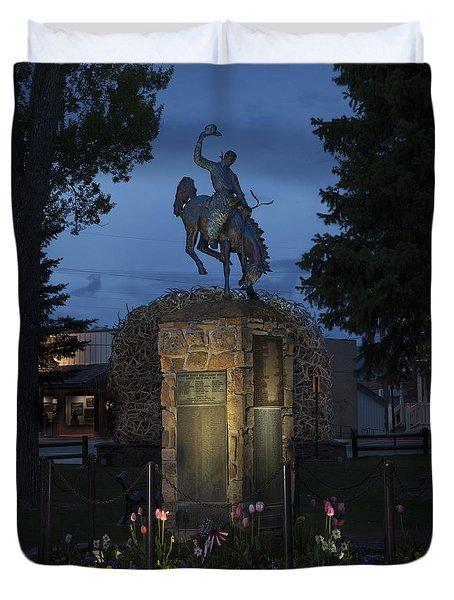 Coulter Memorial, Jackson, Wyoming Duvet Cover