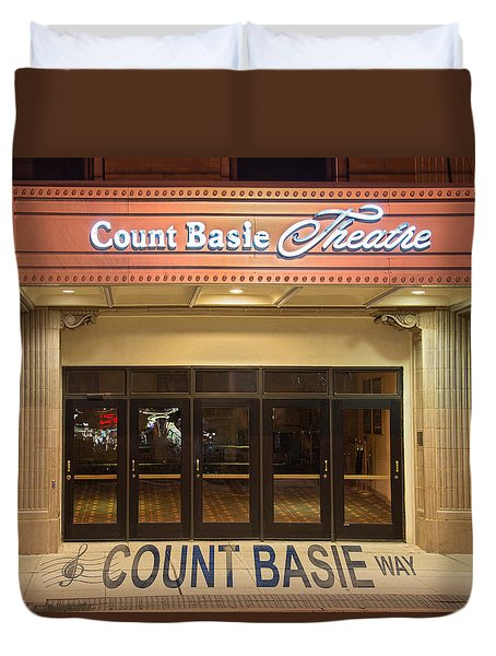 Duvet Cover featuring the photograph Count Basie Legacy In Red Bank by Gary Slawsky