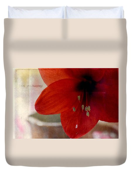 Count Your Blessings Duvet Cover by Robin Dickinson