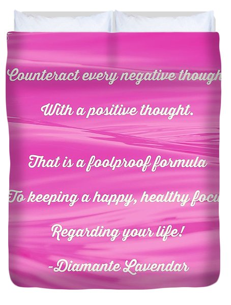 Counteract Every Negative Thought Duvet Cover