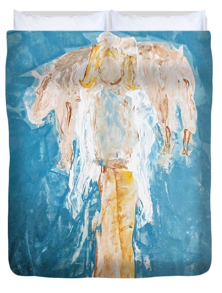 Country Angel Duvet Cover