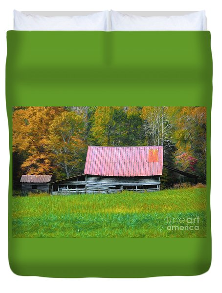 Country Autumn  Duvet Cover by Marion Johnson
