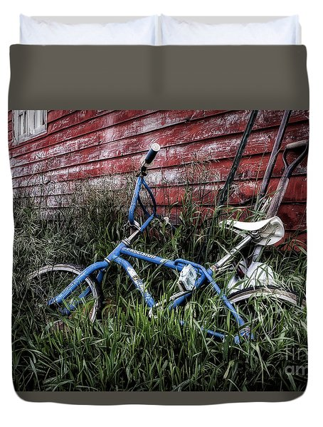 Duvet Cover featuring the photograph Country Bicycle by Brad Allen Fine Art