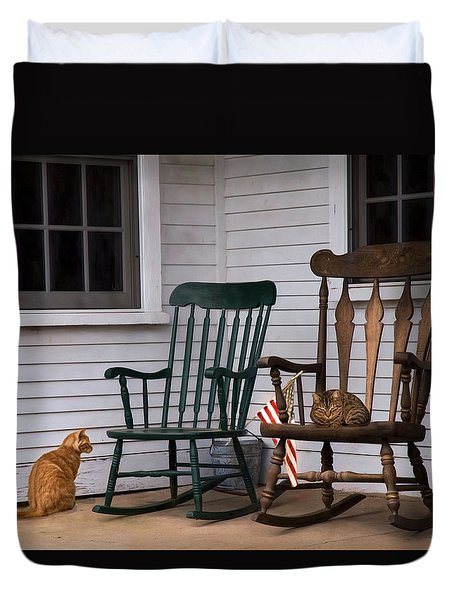 Country Cats Duvet Cover