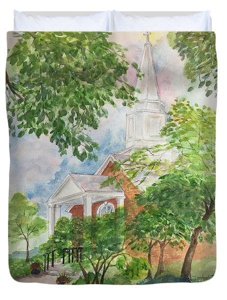 Country Church Duvet Cover by Lucia Grilletto