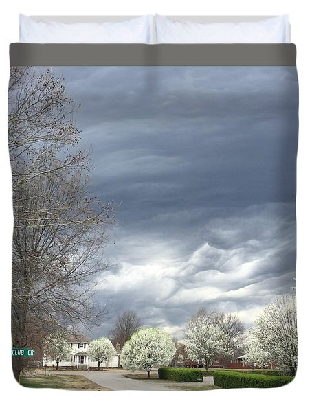 Country Club Circle Duvet Cover