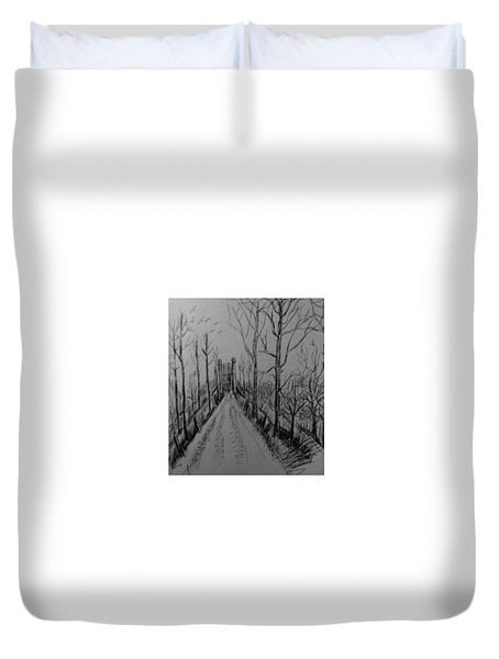 Country Driveway Duvet Cover