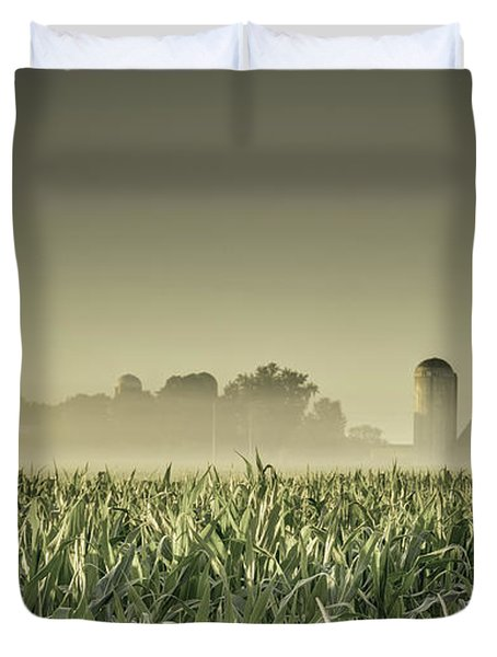 Country Farm Landscape Duvet Cover