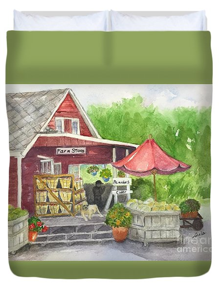 Country Farmer's Market Duvet Cover
