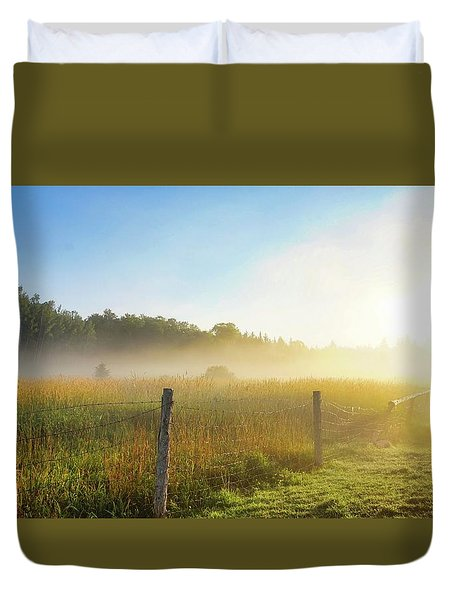 Country Fencerow Duvet Cover
