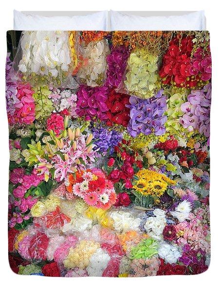 Country Flower Garden Colourful Design Duvet Cover
