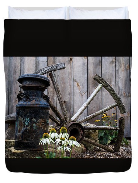 Country Garden Duvet Cover by Anthony Thomas