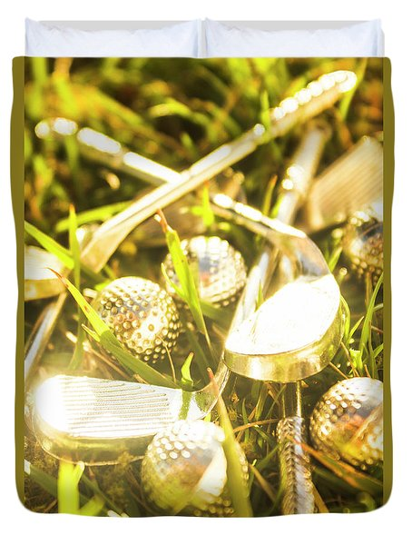Country Golf Duvet Cover