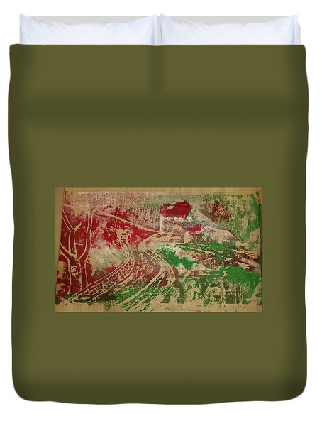 Country Home With Cottage Duvet Cover