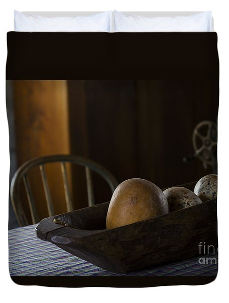 Duvet Cover featuring the photograph Country Kitchen by Andrea Silies