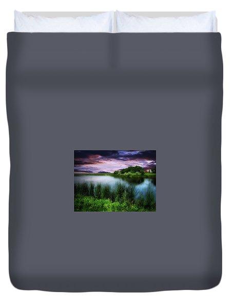 Country Lake Duvet Cover