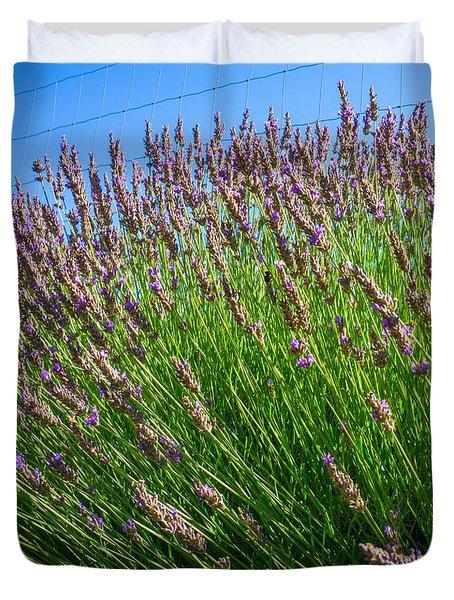 Country Lavender I  Duvet Cover