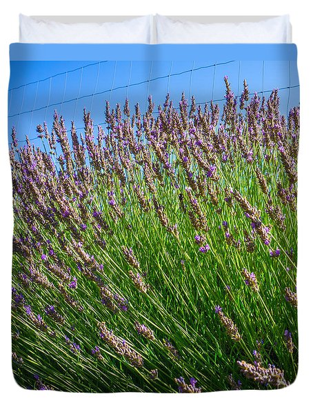 Country Lavender I  Duvet Cover