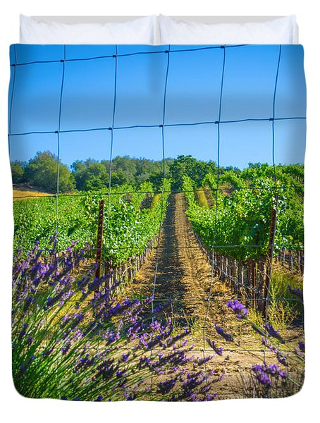 Country Lavender V Duvet Cover