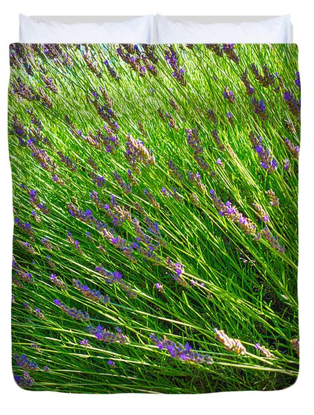 Country Lavender Vi Duvet Cover