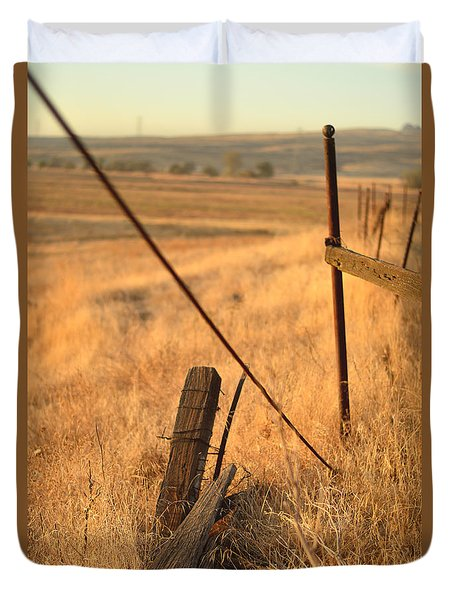 Country Lines Duvet Cover by Pamela Patch