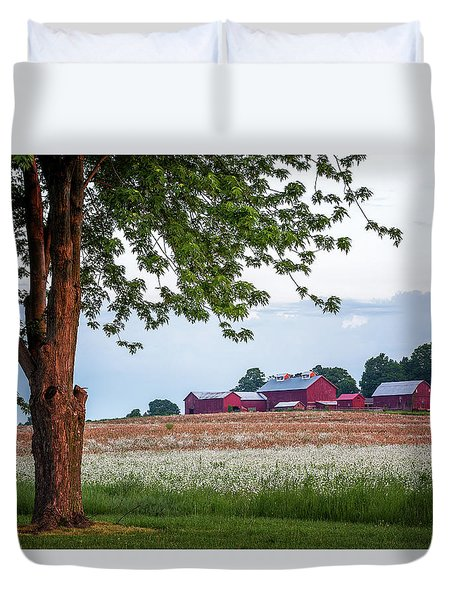 Duvet Cover featuring the photograph Country Living by Everet Regal