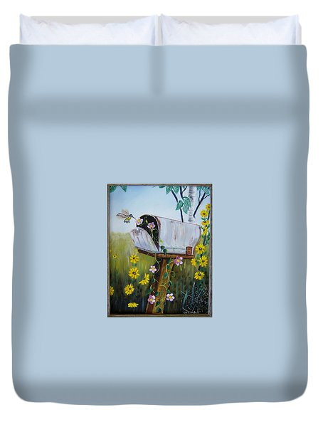 Country Mailbox Duvet Cover
