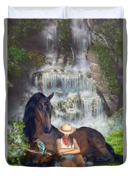 Country Memories 1 Duvet Cover