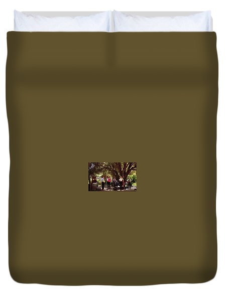 Country Music California Stage Duvet Cover
